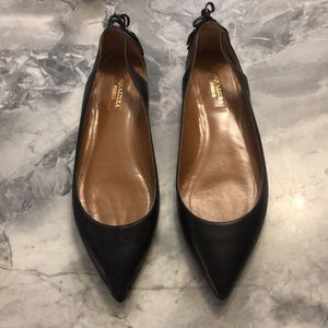 Aquazzura black pointed flats 38.5